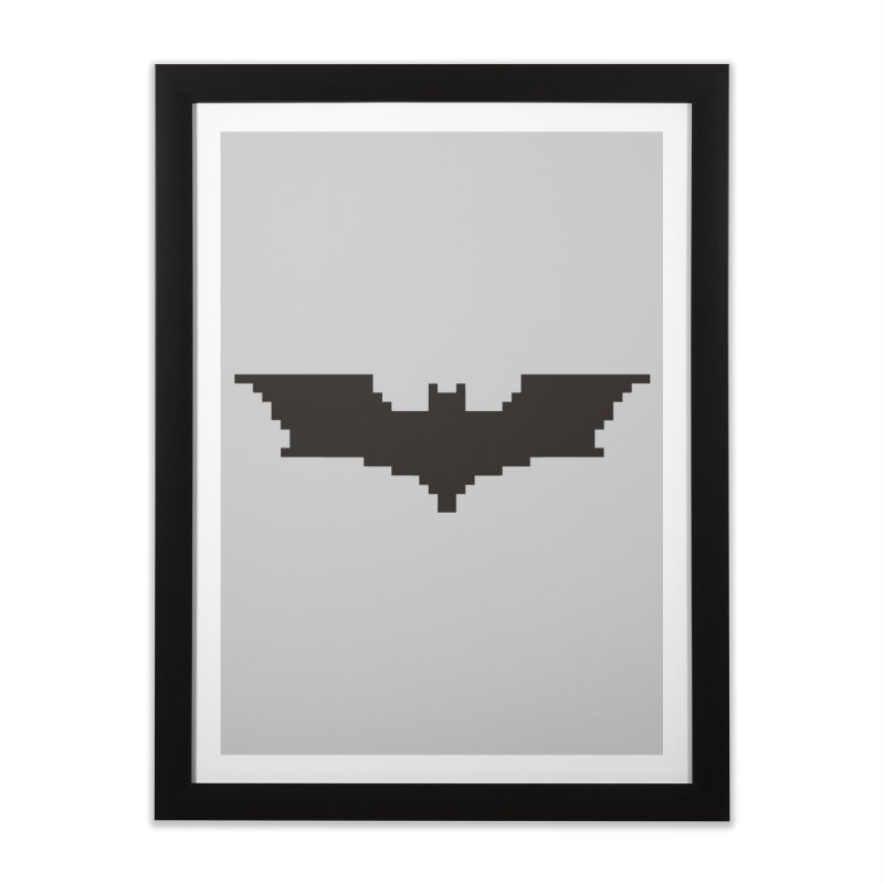 Batman Begins - Pixel Logo Home Framed Fine Art Print by Silli Philli Produktionz