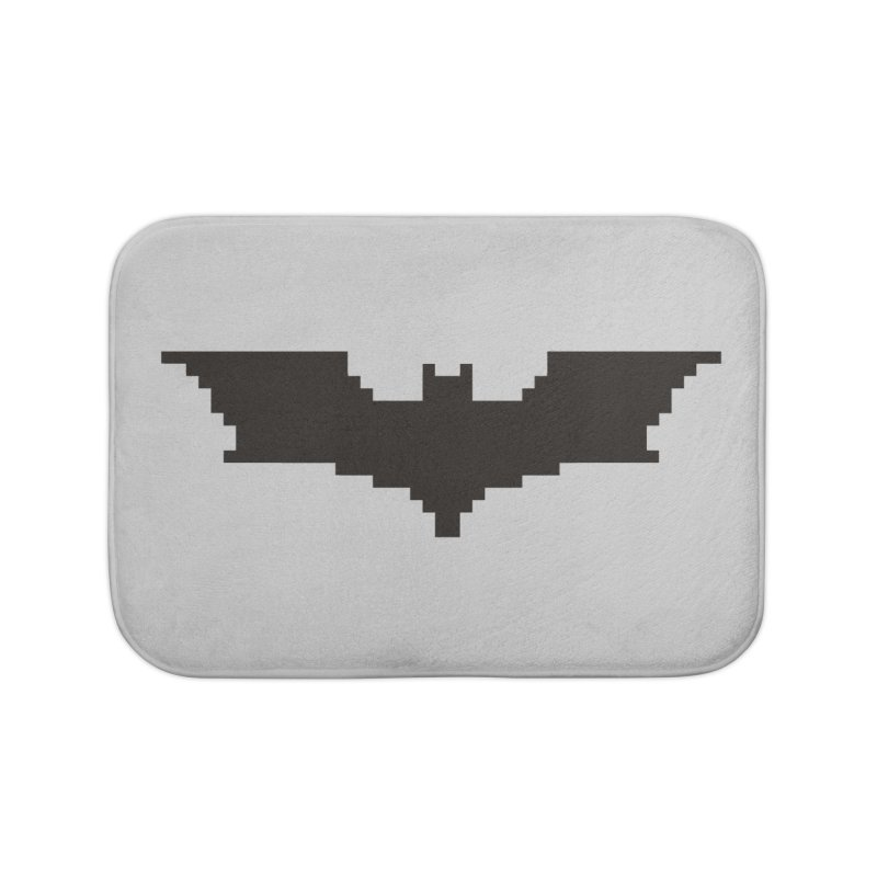 Batman Begins - Pixel Logo Home Bath Mat by Silli Philli Produktionz
