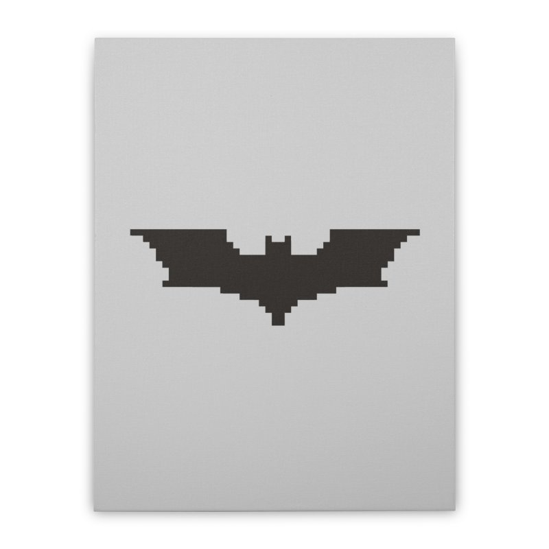 Batman Begins - Pixel Logo Home Stretched Canvas by Silli Philli Produktionz | Custom Prints