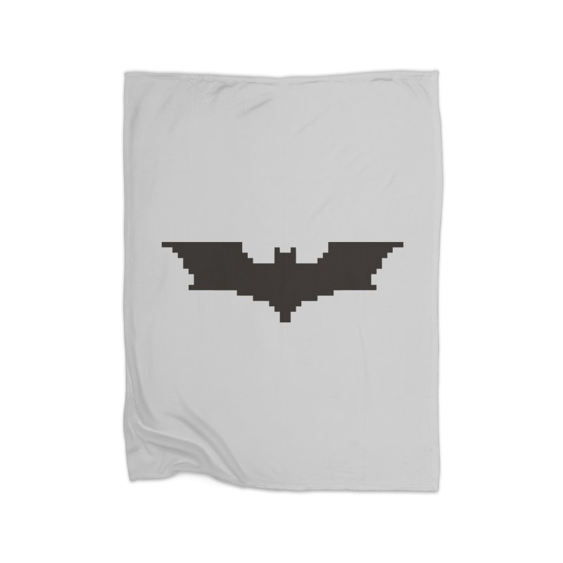 Batman Begins - Pixel Logo Home Fleece Blanket Blanket by Silli Philli Produktionz