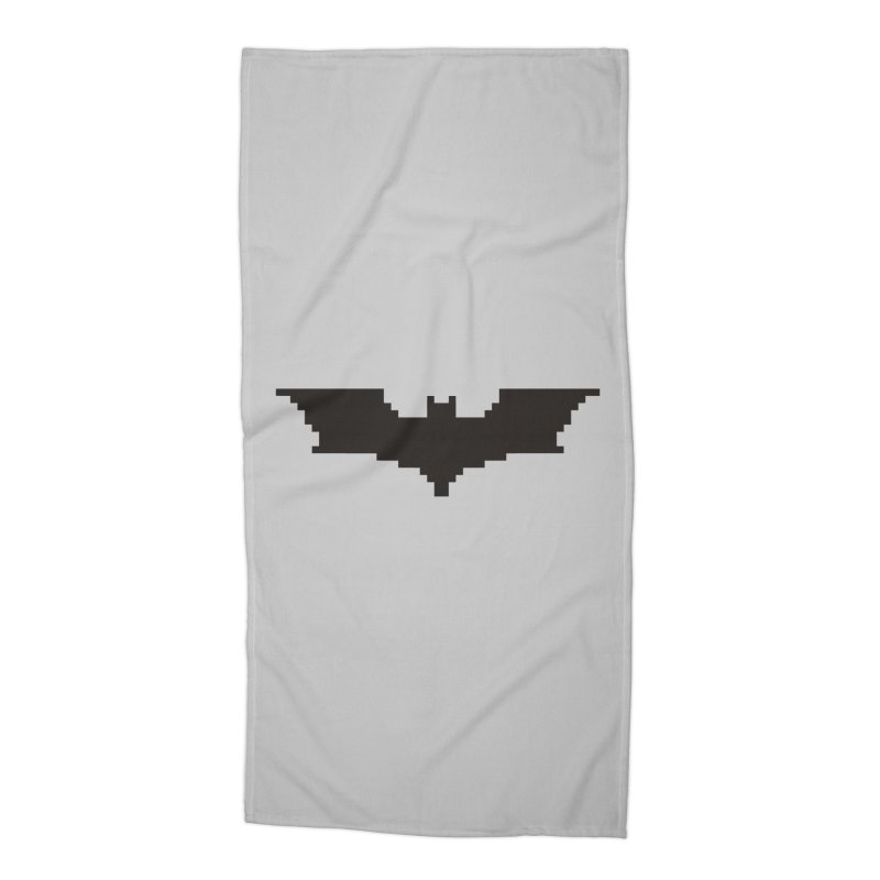 Batman Begins - Pixel Logo Accessories Beach Towel by Silli Philli Produktionz