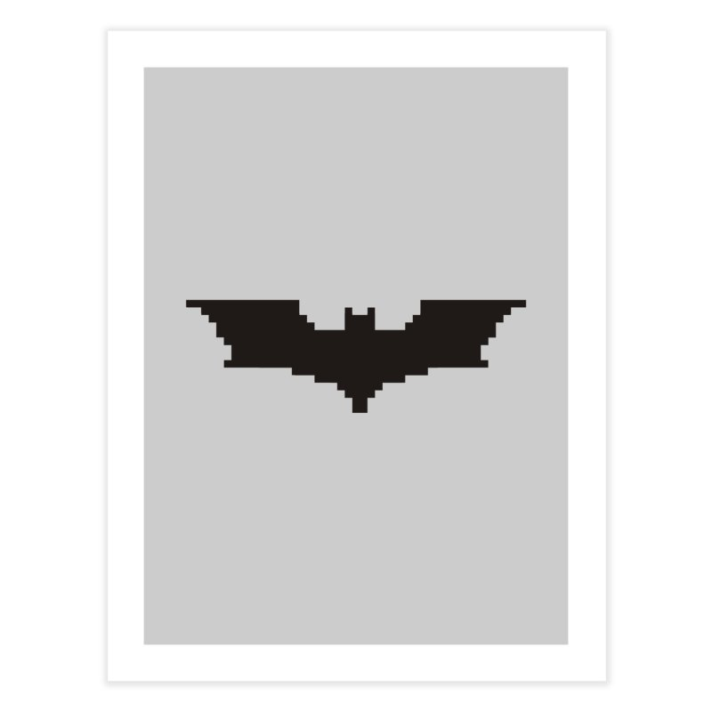 Batman Begins - Pixel Logo Home Fine Art Print by Silli Philli Produktionz | Custom Prints