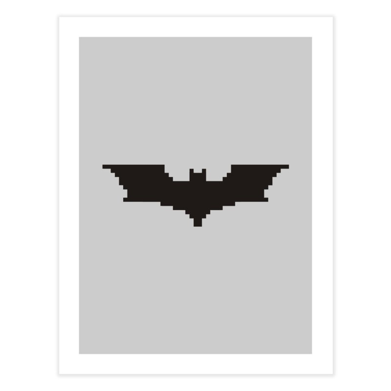 Batman Begins - Pixel Logo Home Fine Art Print by Silli Philli Produktionz | Custom Prints