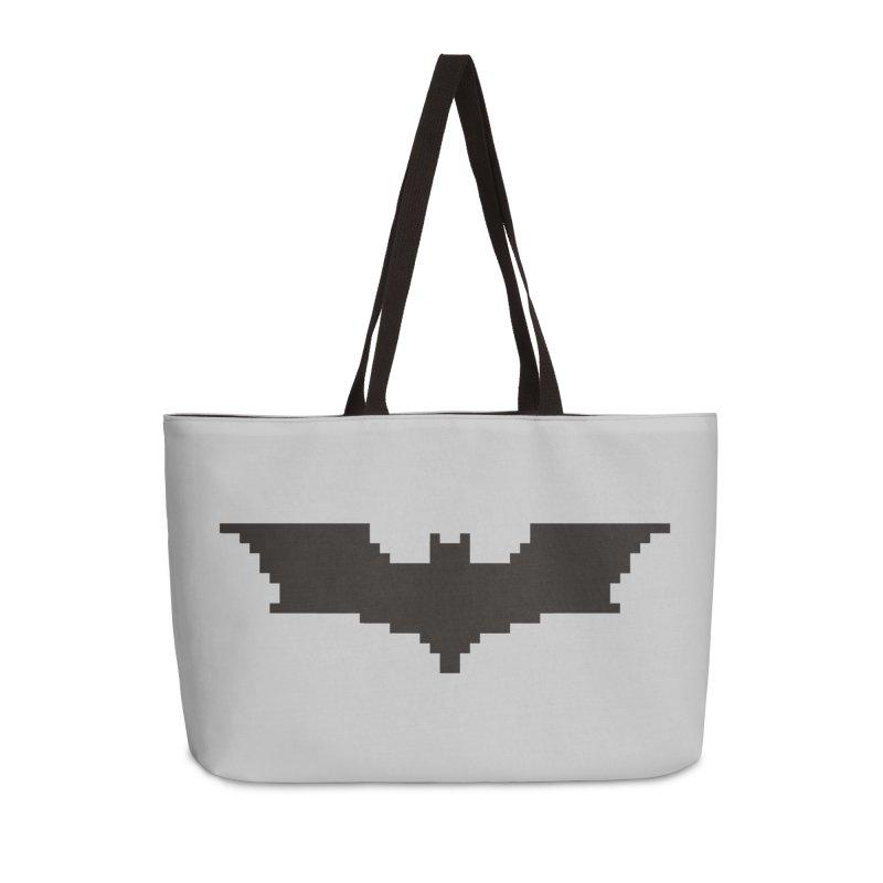 Batman Begins - Pixel Logo Accessories Weekender Bag Bag by Silli Philli Produktionz