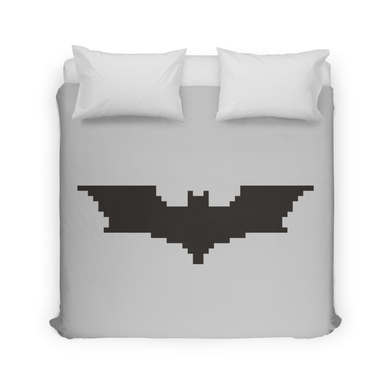 Batman Begins - Pixel Logo Home Duvet by Silli Philli Produktionz
