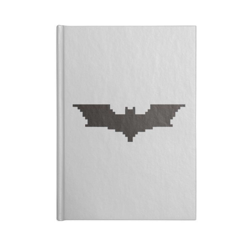 Batman Begins - Pixel Logo Accessories Blank Journal Notebook by Silli Philli Produktionz | Custom Prints