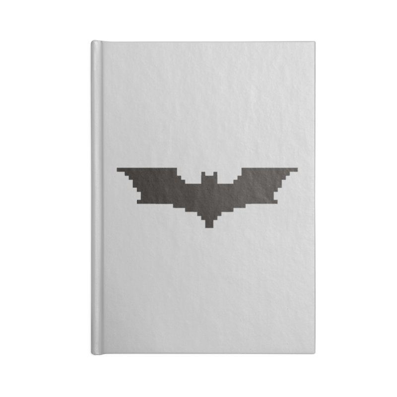 Batman Begins - Pixel Logo Accessories Lined Journal Notebook by Silli Philli Produktionz