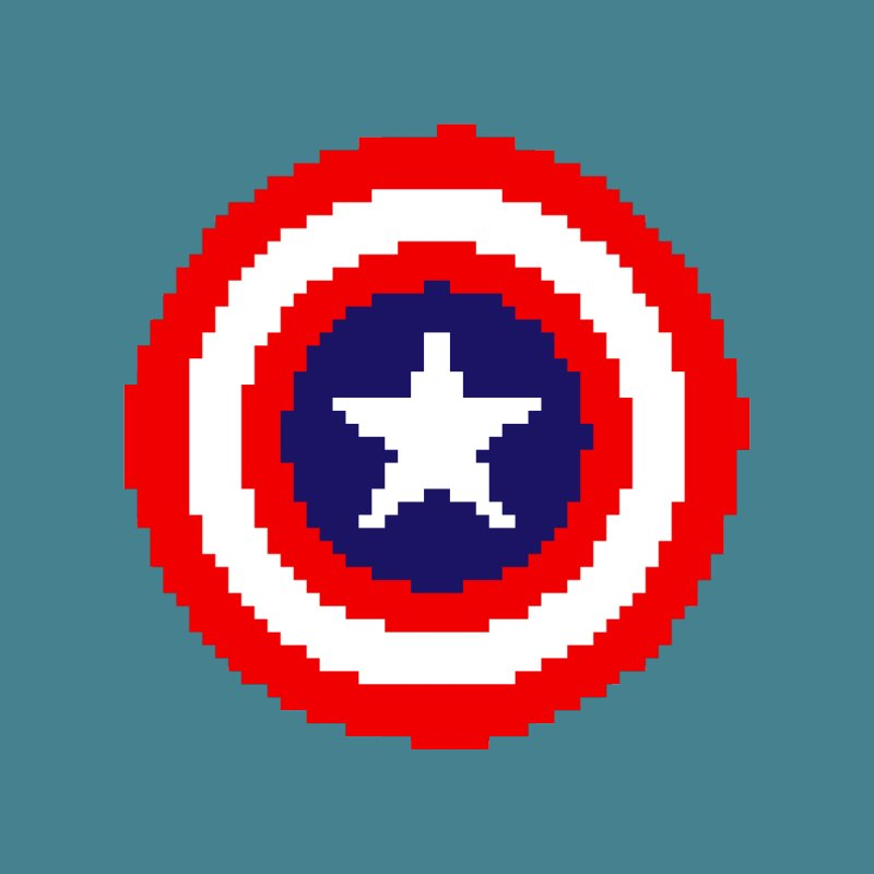 Captain America | Pixel Logo Women's T-Shirt by Silli Philli Produktionz | Custom Prints