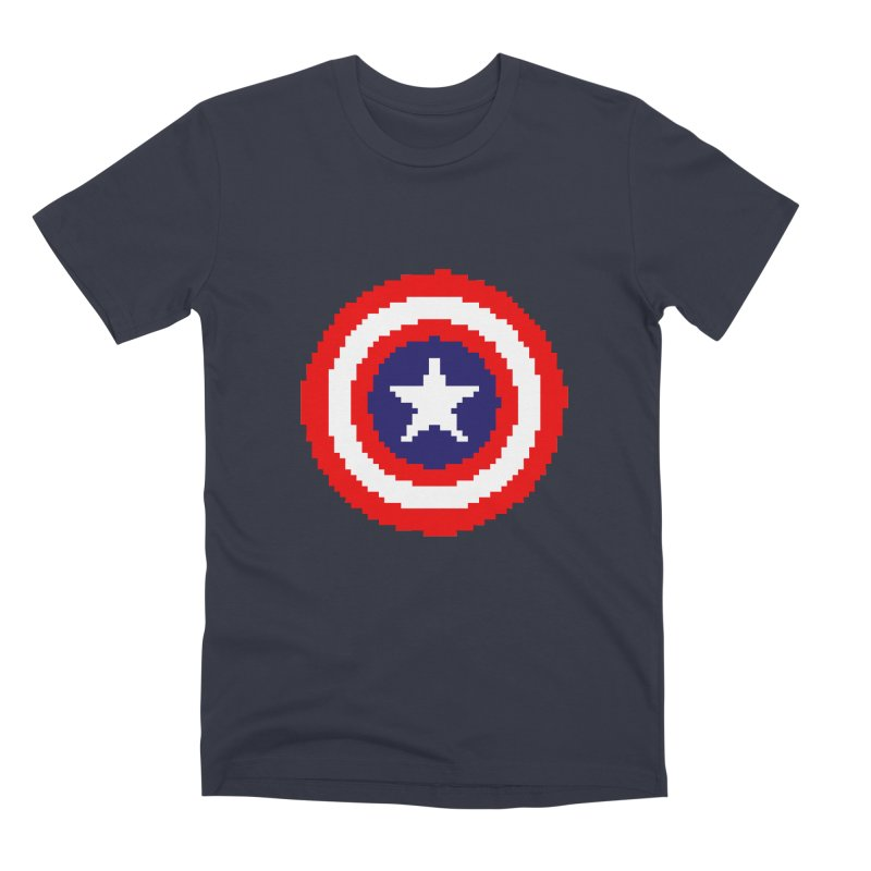 Captain America | Pixel Logo Men's Premium T-Shirt by Silli Philli Produktionz | Custom Prints