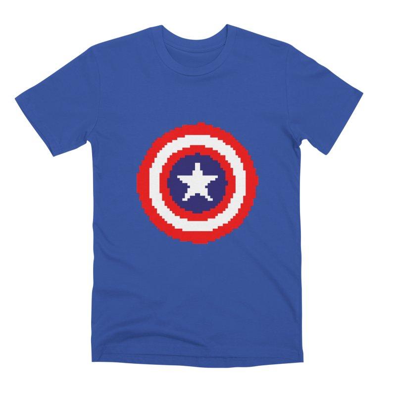 Captain America | Pixel Logo Men's Premium T-Shirt by Silli Philli Produktionz