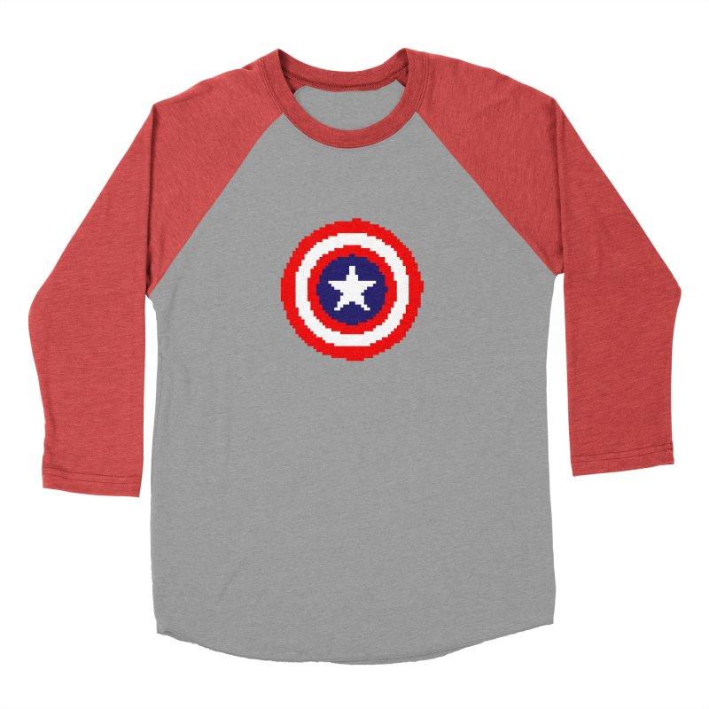 Captain America | Pixel Logo Men's Longsleeve T-Shirt by Silli Philli Produktionz | Custom Prints