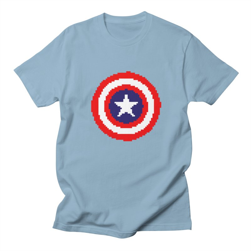 Captain America | Pixel Logo Women's Regular Unisex T-Shirt by Silli Philli Produktionz