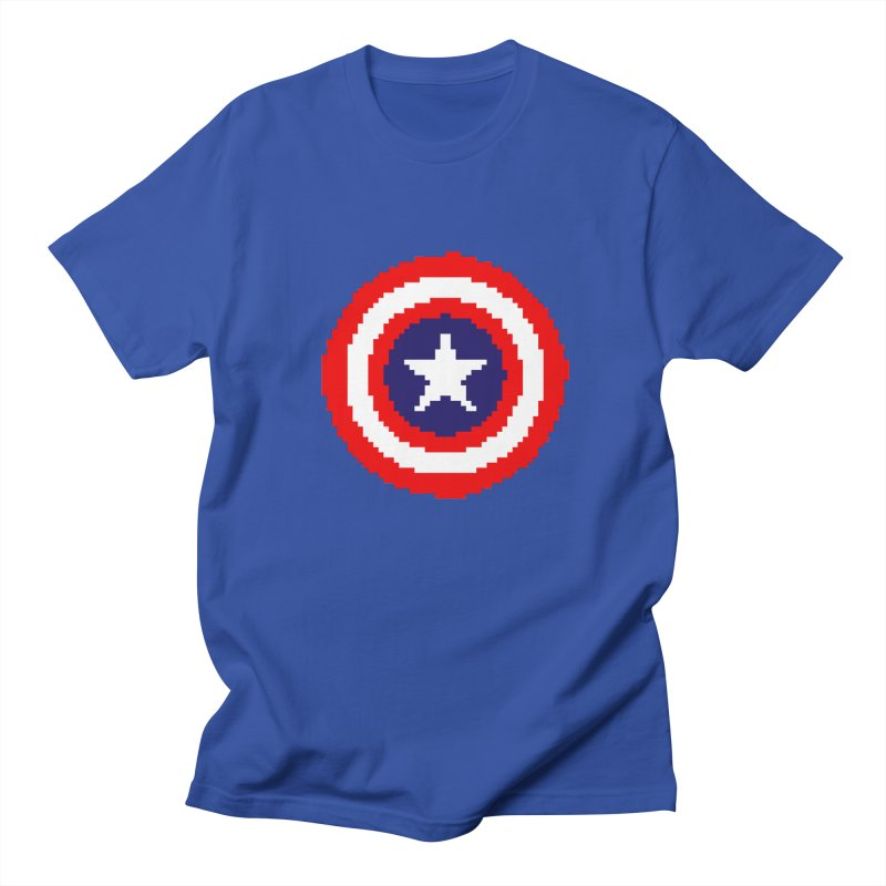 Captain America | Pixel Logo Women's Regular Unisex T-Shirt by Silli Philli Produktionz