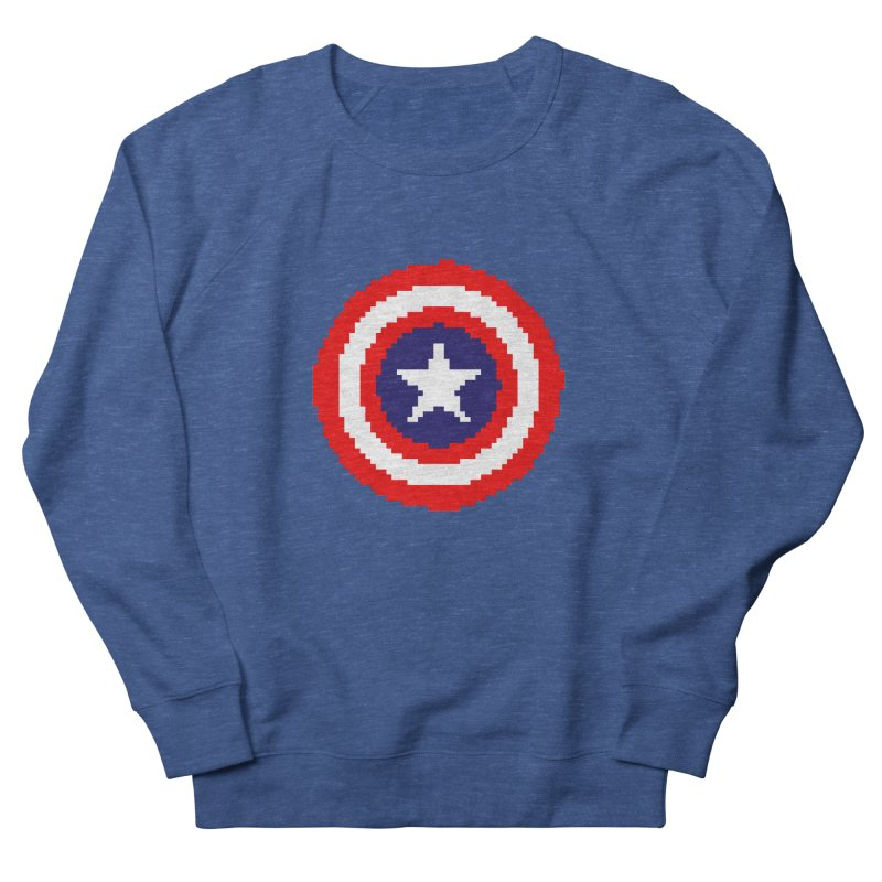 Captain America | Pixel Logo Women's French Terry Sweatshirt by Silli Philli Produktionz