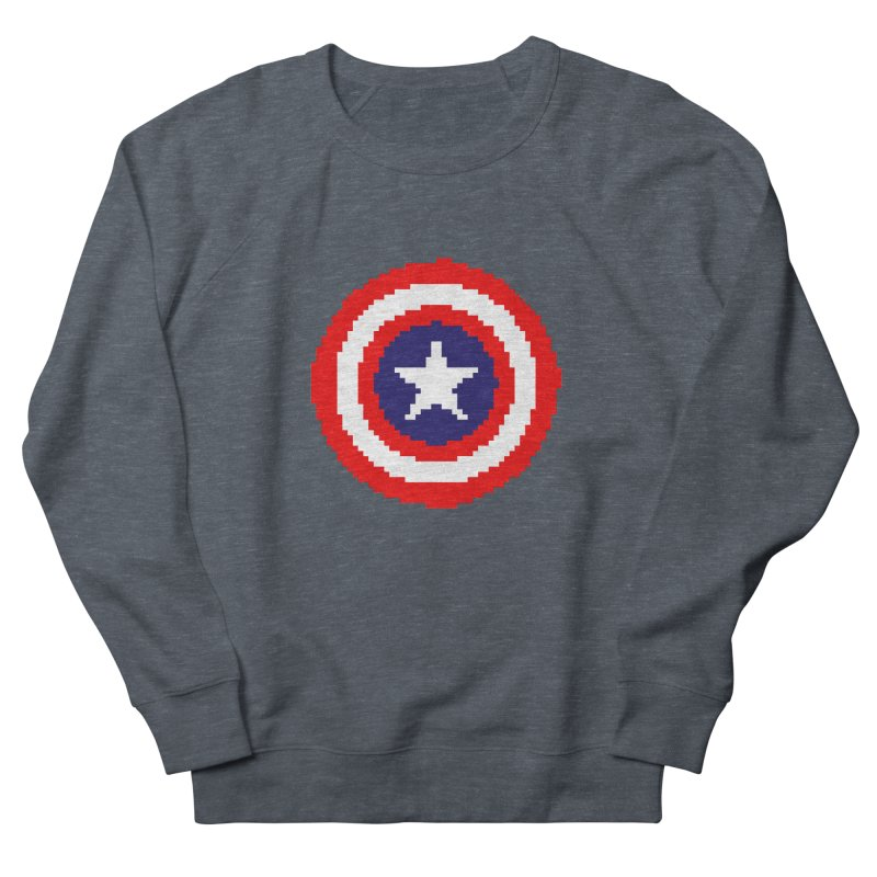 Captain America | Pixel Logo Women's French Terry Sweatshirt by Silli Philli Produktionz