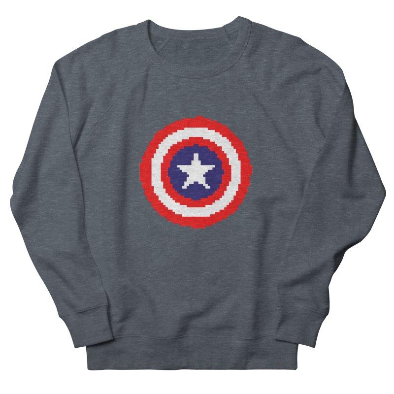 Captain America | Pixel Logo Men's French Terry Sweatshirt by Silli Philli Produktionz