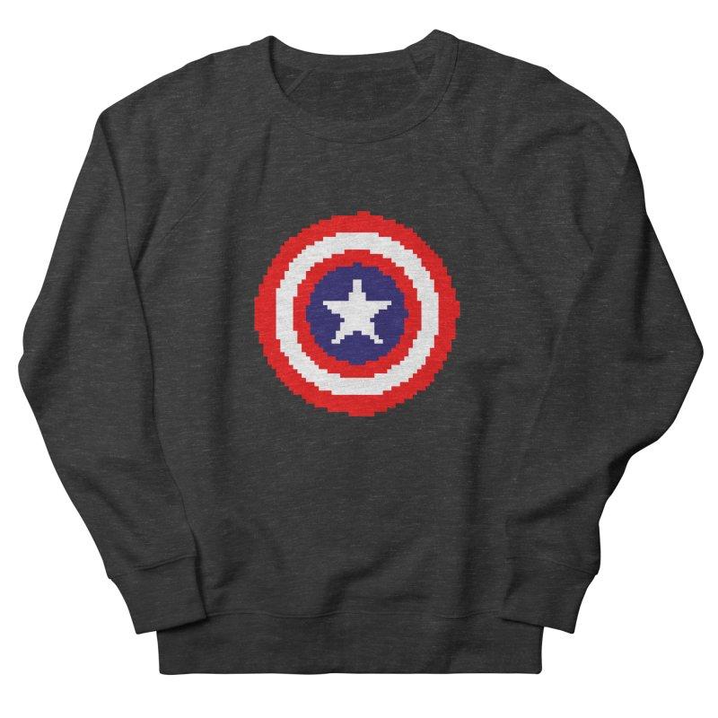 Captain America | Pixel Logo Men's French Terry Sweatshirt by Silli Philli Produktionz | Custom Prints
