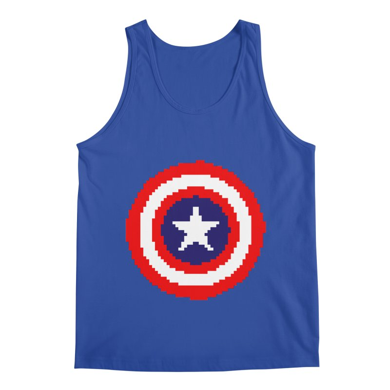 Captain America | Pixel Logo Men's Tank by Silli Philli Produktionz | Custom Prints
