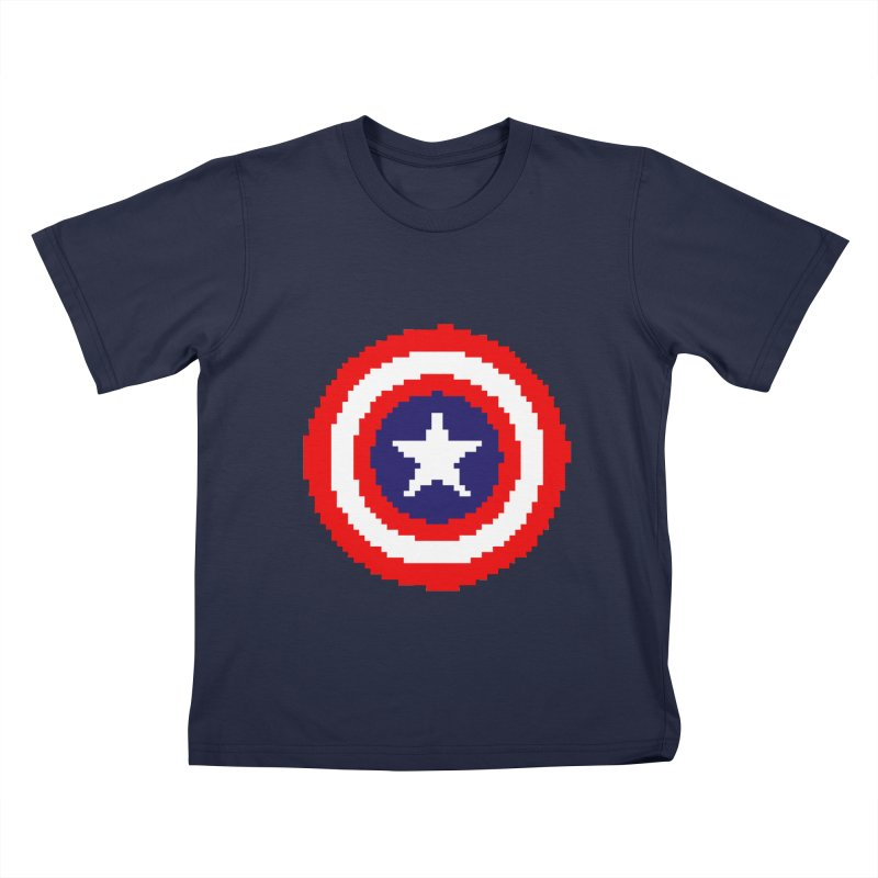 Captain America | Pixel Logo Kids T-Shirt by Silli Philli Produktionz