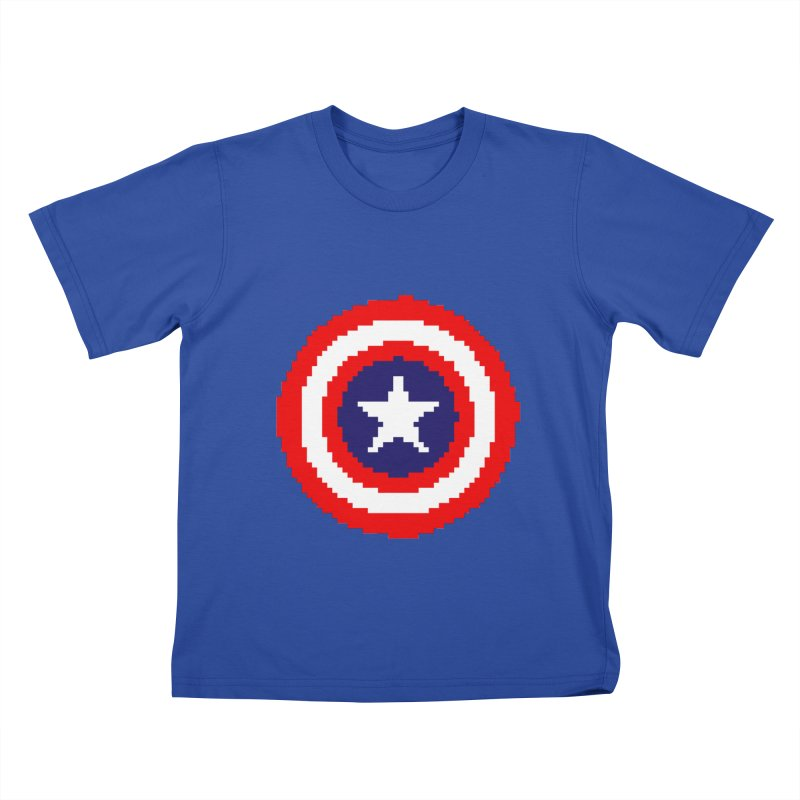Captain America | Pixel Logo Kids T-Shirt by Silli Philli Produktionz