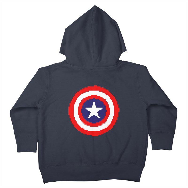 Captain America | Pixel Logo Kids Toddler Zip-Up Hoody by Silli Philli Produktionz | Custom Prints