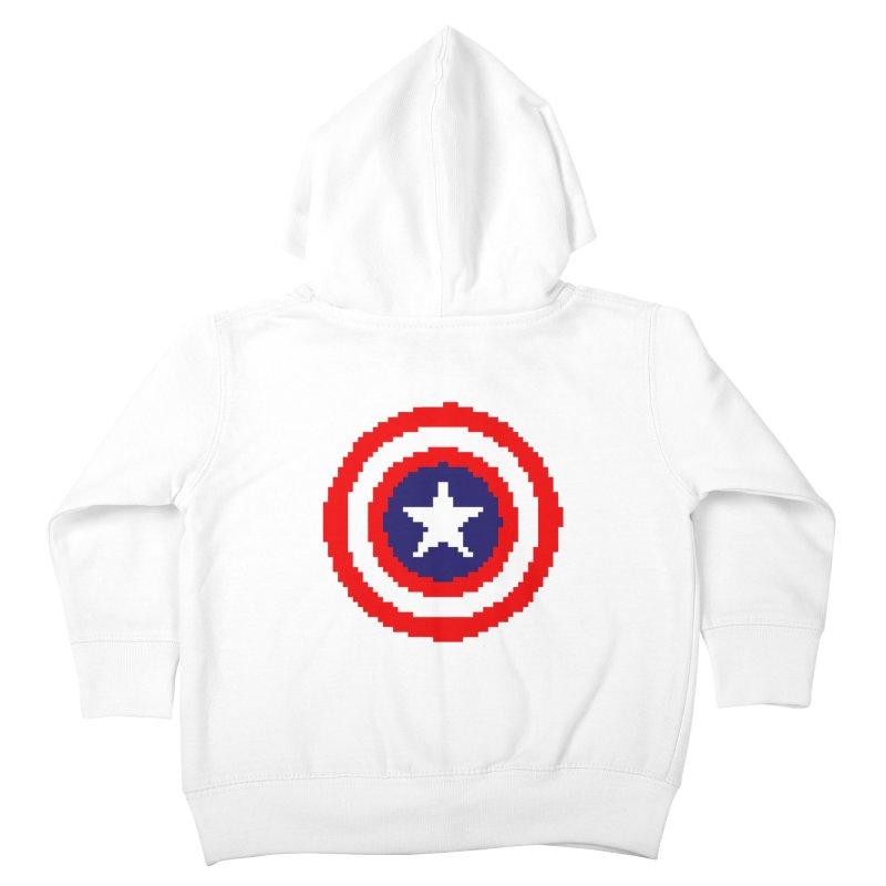 Captain America | Pixel Logo Kids Toddler Zip-Up Hoody by Silli Philli Produktionz