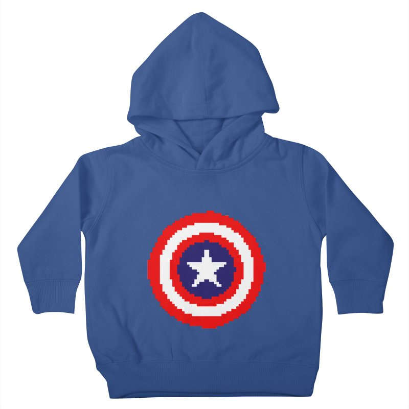 Captain America   Pixel Logo Kids Toddler Pullover Hoody by Silli Philli Produktionz