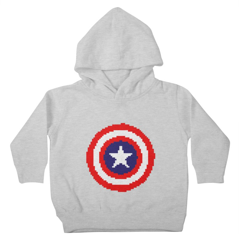 Captain America | Pixel Logo Kids Toddler Pullover Hoody by Silli Philli Produktionz | Custom Prints