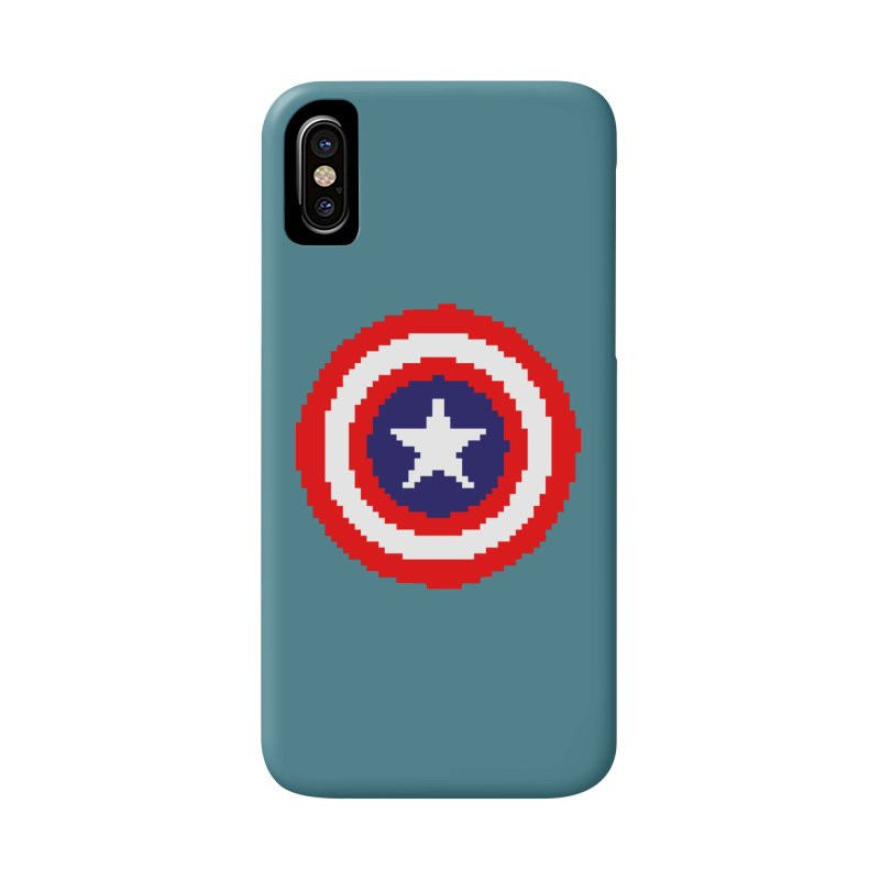 Captain America | Pixel Logo Accessories Phone Case by Silli Philli Produktionz