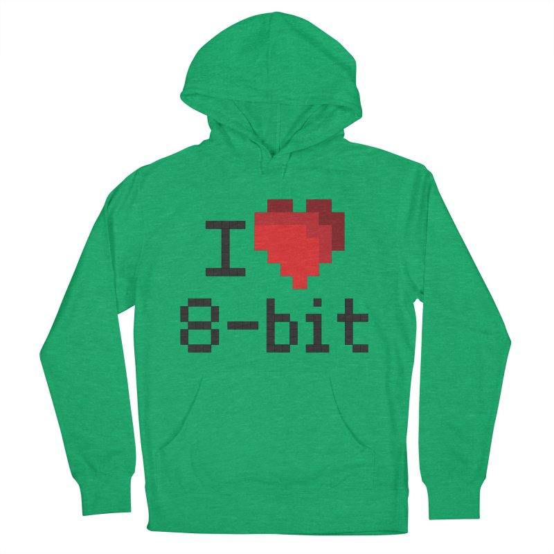 I Heart 8-bit Women's Pullover Hoody by Silli Philli Produktionz
