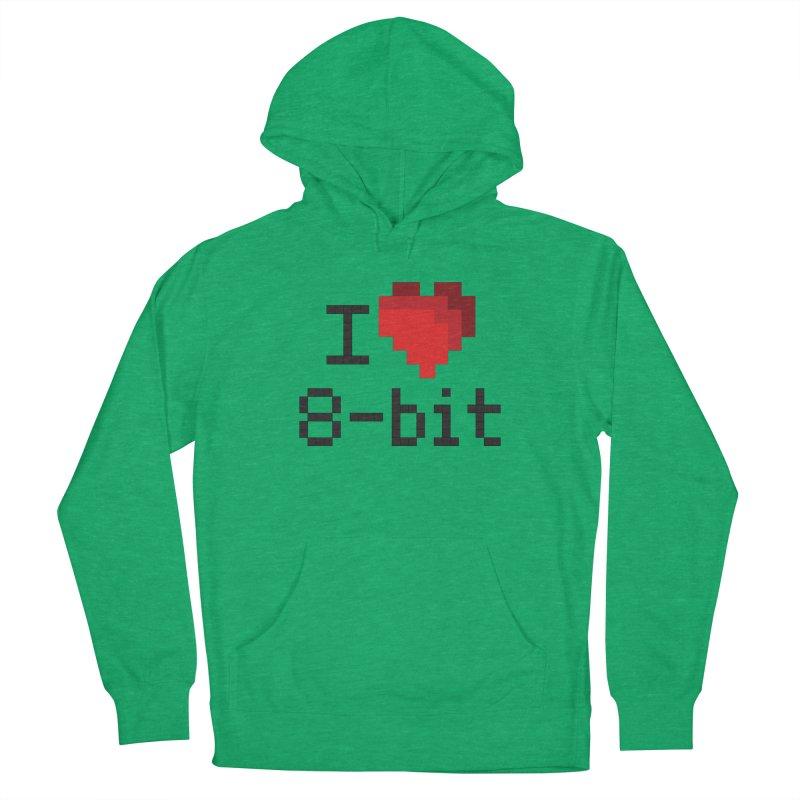 I Heart 8-bit Women's Pullover Hoody by Silli Philli Produktionz | Custom Prints