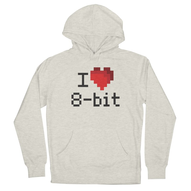 I Heart 8-bit Women's Pullover Hoody by Silli Philli Produktionz | Custom Prints
