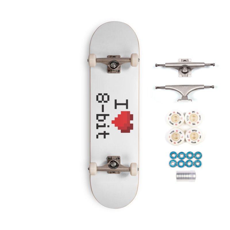 I Heart 8-bit Accessories Skateboard by Silli Philli Produktionz | Custom Prints