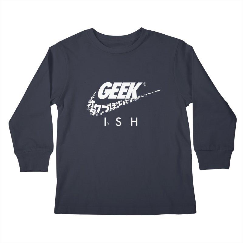 GeekIsh in Kids Longsleeve T-Shirt Midnight by Silli Philli Produktionz | Custom Prints