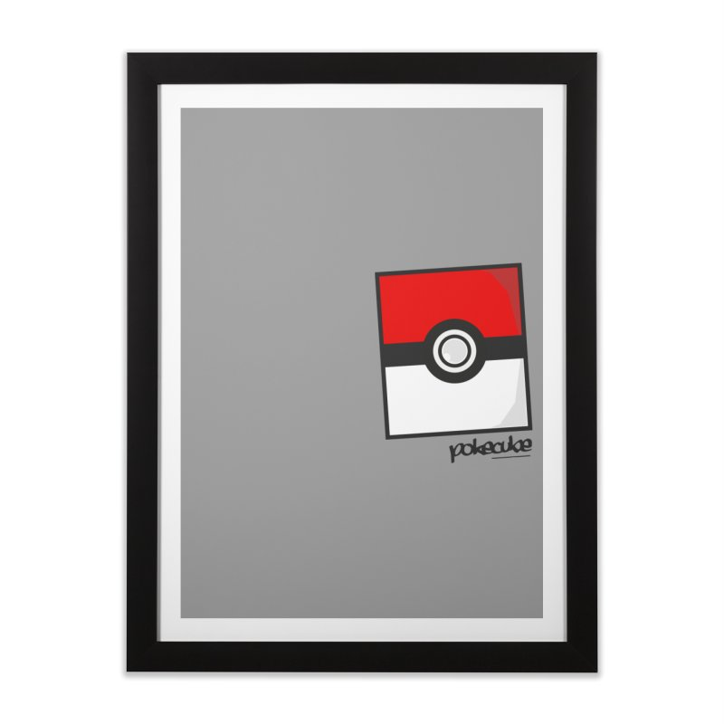 PokeMaan PokeCube Home Framed Fine Art Print by Silli Philli Produktionz