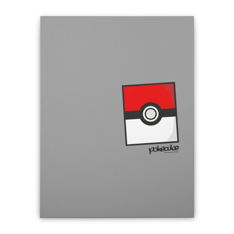 PokeMaan PokeCube Home Stretched Canvas by Silli Philli Produktionz