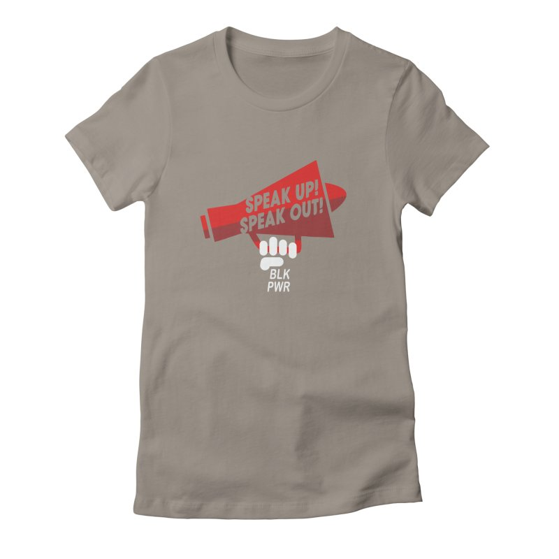 BLKPWR - Megaphone Women's T-Shirt by Silli Philli Produktionz | Custom Prints