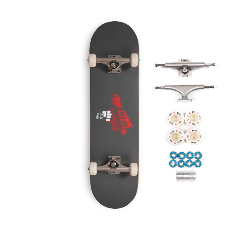 BLKPWR - Megaphone Accessories Skateboard by Silli Philli Produktionz | Custom Prints