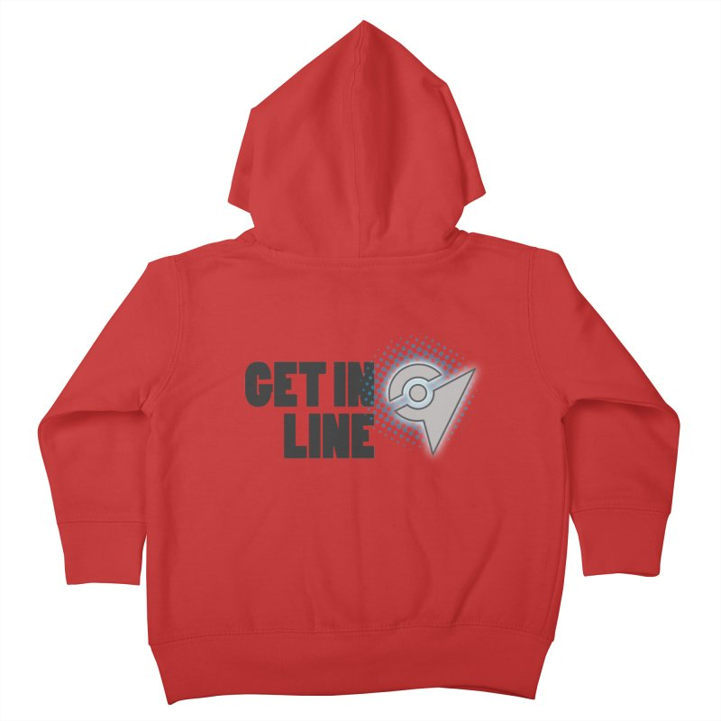 PokeMaan - Get in Line Kids Toddler Zip-Up Hoody by Silli Philli Produktionz | Custom Prints