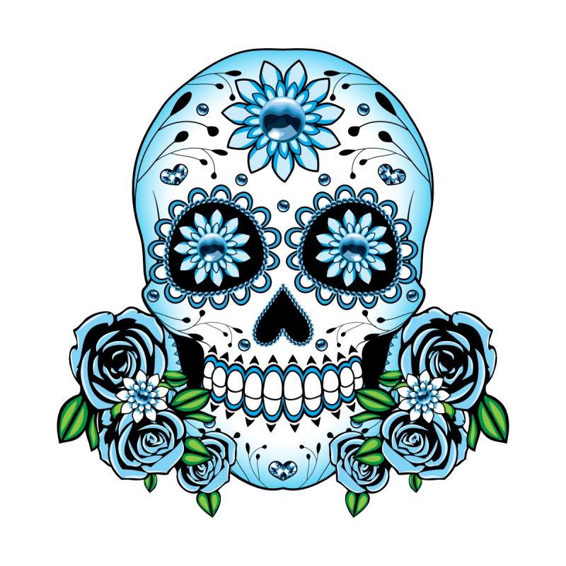 Blue Sugar Skull Kids T Shirt Silly Bones S Artist Shop