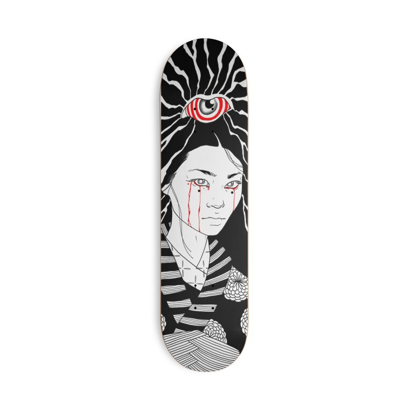 The Evil Eye Sk8 Serie in Deck Only Skateboard by Silly Shop