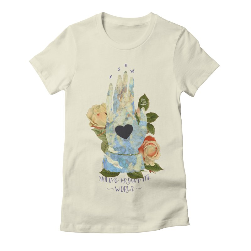 Sailing Around the World Women's Fitted T-Shirt by silviopqno's Artist Shop