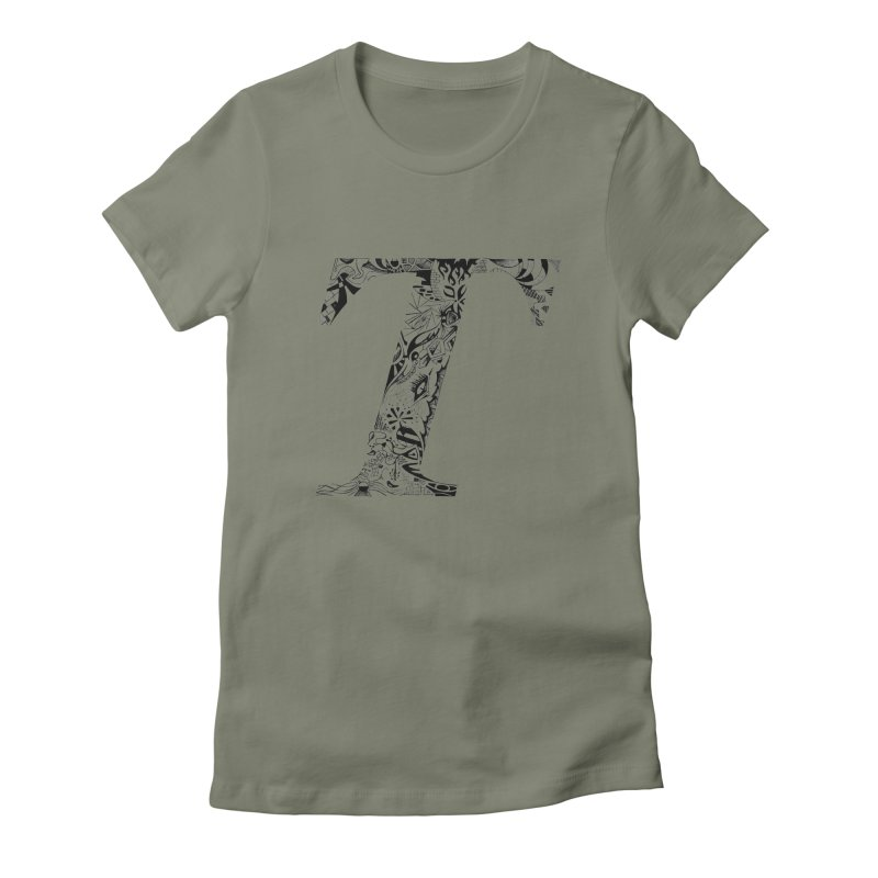 The Original T Women's Fitted T-Shirt by Simon's Artist Shop