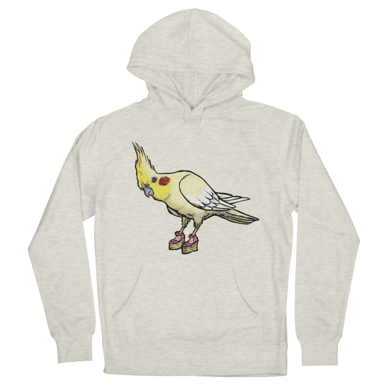 Cockatiel Women's French Terry Pullover Hoody by Simon Christopher Greiner