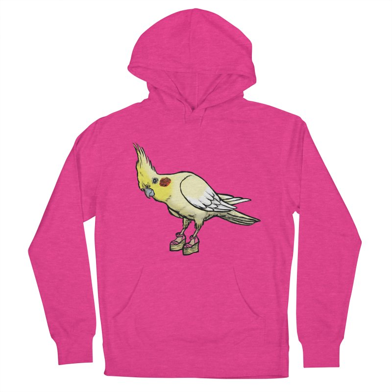 Cockatiel Men's French Terry Pullover Hoody by Simon Christopher Greiner