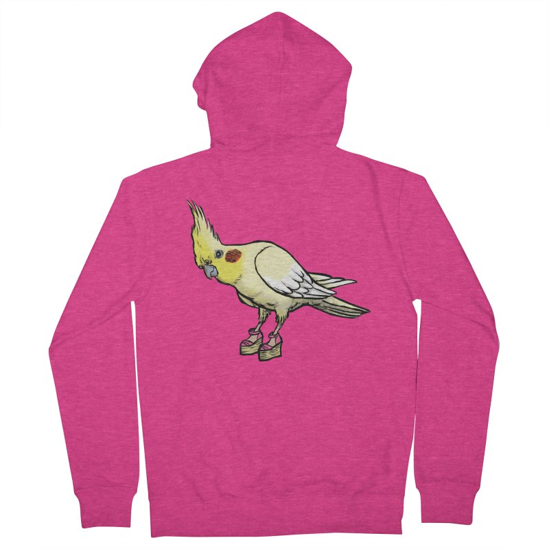Cockatiel Women's French Terry Zip-Up Hoody by Simon Christopher Greiner