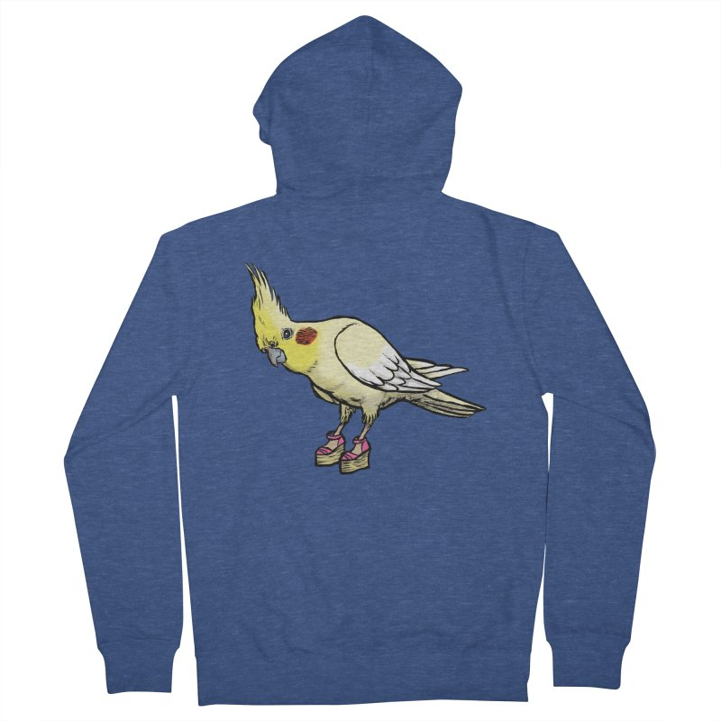 Cockatiel Men's Zip-Up Hoody by Simon Christopher Greiner
