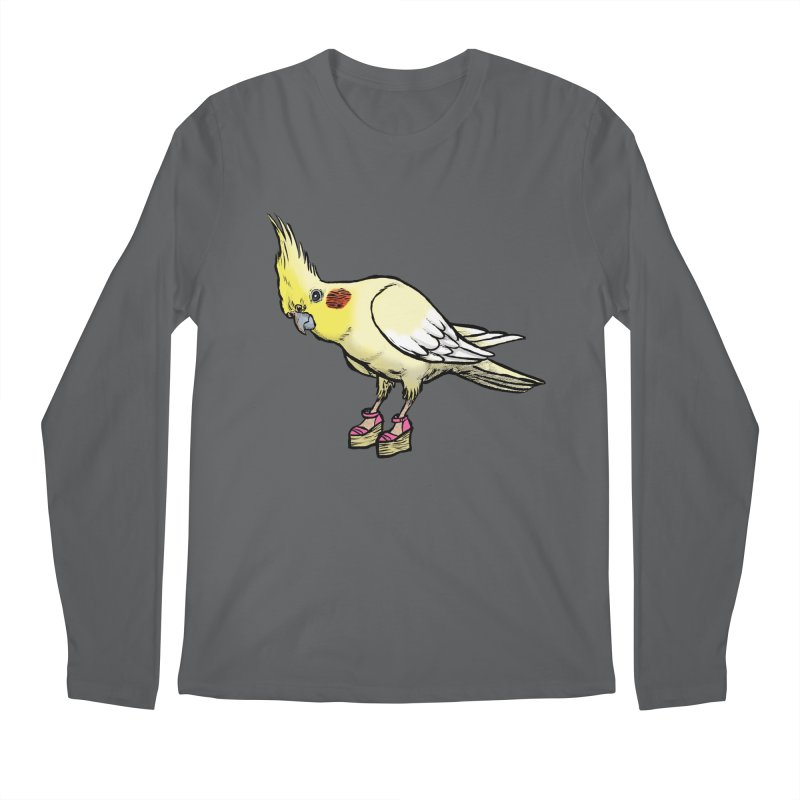 Cockatiel Men's Regular Longsleeve T-Shirt by Simon Christopher Greiner