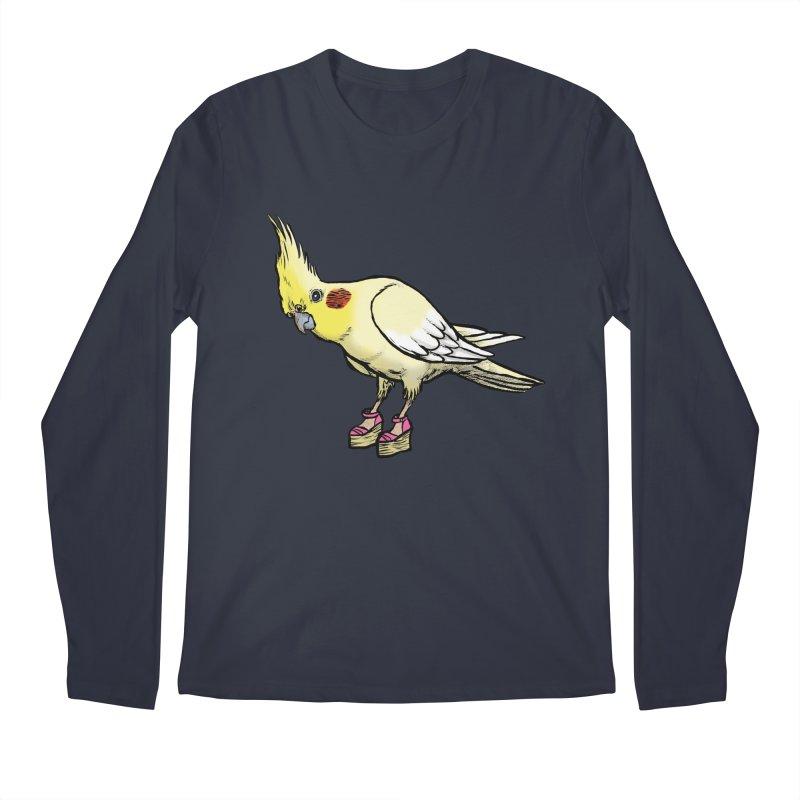 Cockatiel Men's Longsleeve T-Shirt by Simon Christopher Greiner