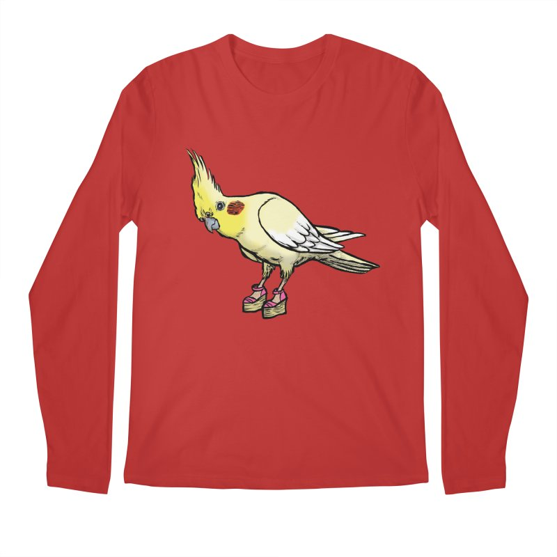 Cockatiel Men's Longsleeve T-Shirt by Simon Christopher Greiner
